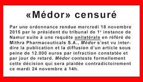 Médor (déjà) censuré