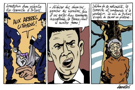 Arrestation d'une violente éco-terroriste