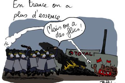 En France, on a plus d'essence…